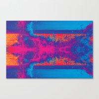 Crashing Waves Abstract Canvas Print
