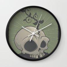 Skull Garden Wall Clock