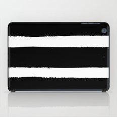Black & White Paint Stripes by Friztin iPad Case