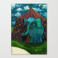 BLUE ELEPHANT.  Canvas Print