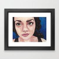 citymorningblue Framed Art Print