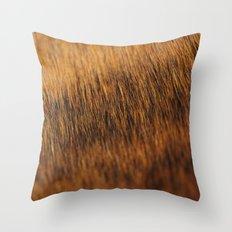Brindle Fur Throw Pillow