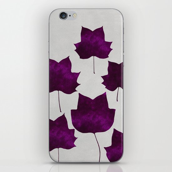 Mapleleaf Purple iPhone & iPod Skin