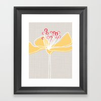 Cherry Blossom: Stone Framed Art Print