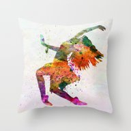 Dancing To The Night  Throw Pillow