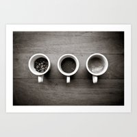 Coffee V. Art Print
