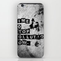 TIME To Stop Pollution N… iPhone & iPod Skin