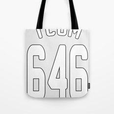 TCOM 646 AREA CODE JERSEY Tote Bag