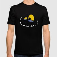 TEETH MONSTER Mens Fitted Tee Black SMALL