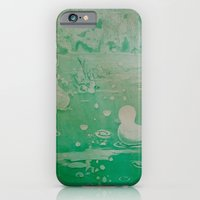 iPhone Cases featuring MoonSea Fantasy lightgreen by ANoelleJay