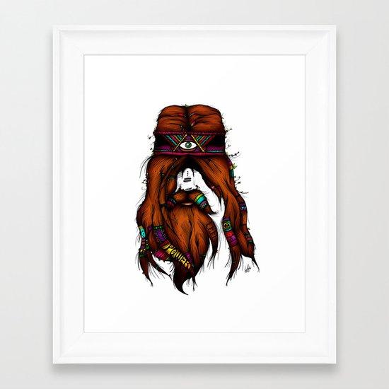Feel, Peace, Love & Power (Color Version) Framed Art Print