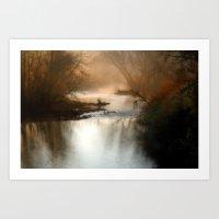 Foggy Alum Creek On A Ch… Art Print
