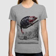 Central Park, NY Womens Fitted Tee Athletic Grey SMALL