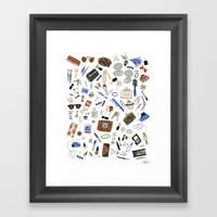 Girly Objects Framed Art Print