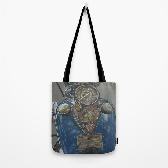 Harley Davidson Knucklehead Tote Bag By Themainsketch Society6