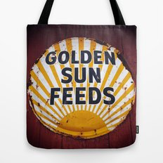 Golden Sun Feeds Tote Bag