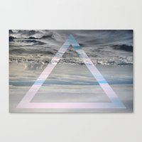 Triangle cloud Canvas Print