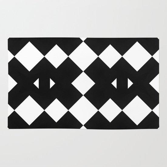 Branting Black & White Pattern Area & Throw Rug