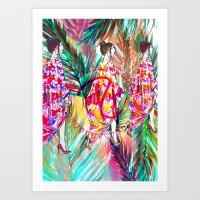 Summer Vibes #fashionillustration  Art Print