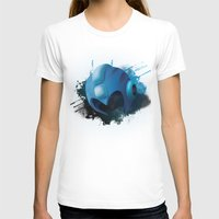 Mega Man Womens Fitted Tee White SMALL