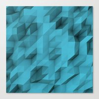 Low Poly Texture Canvas Print