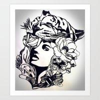 Strong Girl Art Print
