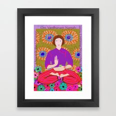 Lady Buddha Framed Art Print