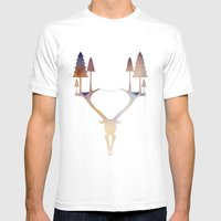 Antler Forest Mens Fitted Tee White SMALL