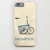 iPhone & iPod Case featuring Brompton Bike by Wyatt Design