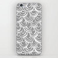 monochrome scallop scales iPhone & iPod Skin