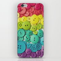 Cute As A Button iPhone & iPod Skin
