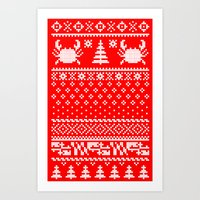 Ugly Maryland Christmas Sweater Art Print