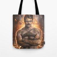 Ron ****ing Swanson Tote Bag
