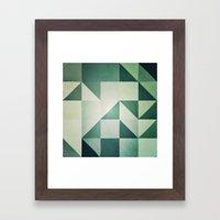 :: geometric maze x :: Framed Art Print