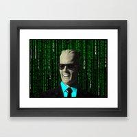max meets matrix Framed Art Print