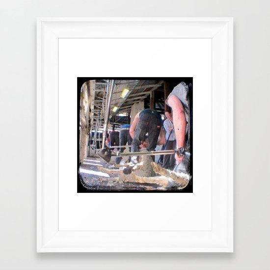 Heads Down, Bums Up - Through The Viewfinder (TTV) Framed Art Print