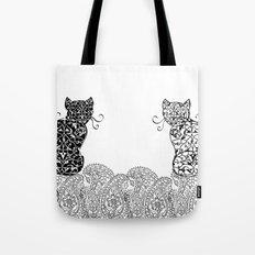 Black Cat White Cat Tote Bag