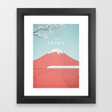 Vintage Japan Travel Pos… Framed Art Print