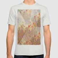 Floral Fantasy Mens Fitted Tee Silver SMALL