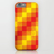 Rusty yellow and red motive Slim Case iPhone 6s