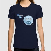 Breaking Bad Blue Sky Version Womens Fitted Tee Navy SMALL