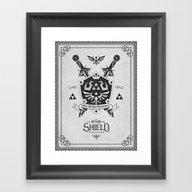 Legend Of Zelda Hylian S… Framed Art Print
