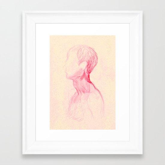 Neck Study I Framed Art Print