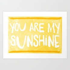 My Sunshine Love Art Print