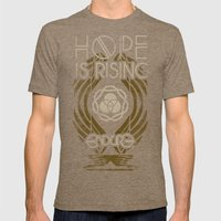 HOPE IS RISING Mens Fitted Tee Tri-Coffee SMALL