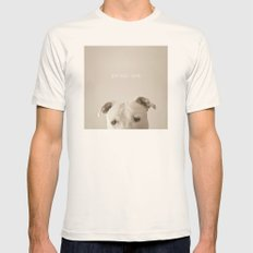 Pit Bull Love  Mens Fitted Tee Natural SMALL