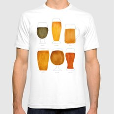 Beer SMALL Mens Fitted Tee White