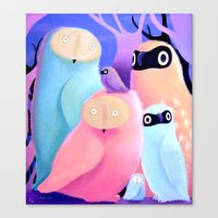 Owls of Owls Canvas Print