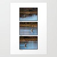 Fly Fishing Triptych Whi… Art Print