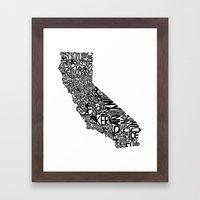 Typographic California Framed Art Print